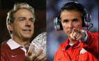 Alabama Coach Nick Saban and Ohio State Coach Urban Meyer