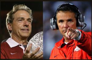 Alabama Coach Nick Saban and Ohio State Coach Urban Meyer